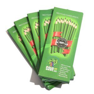 Multi Color Recycled Paper Pencils 50 BLACK LEAD